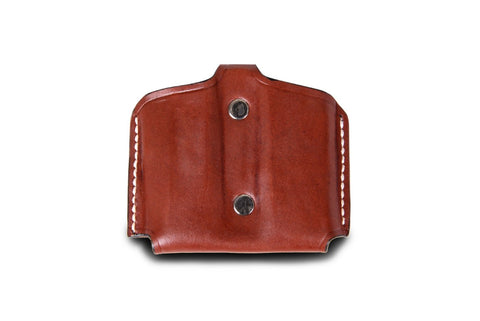 Magazine Double Open Top Leather Pouch Case - Pusat Holster