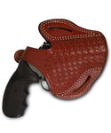 Charter Arms 357/38 Leather Basket Weave OWB 2.5 Holster, Pusat Holster