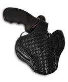 Charter Arms 357/38 Leather Basket Weave OWB 3 Holster - Pusat Holster