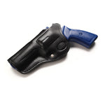 Ruger GP100, Security Six, Service Six 357 MAG 6 Round Revolver Leather Cross Draw 4 BBL Holster - Pusat Holster