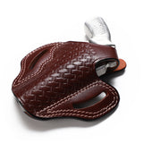 Ruger SP101 Leather OWB 3 BBL Basket Weave Holster - Pusat Holster