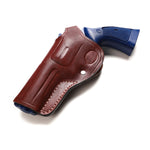 Smith Wesson L Frame 6 Shot 581, 586, 681, 686 Leather Cross Draw 4 BBL Holster, Pusat Holster