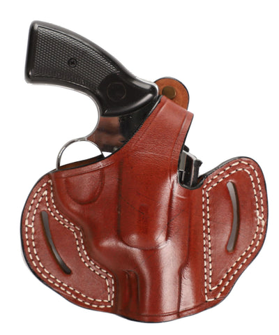 Smith Wesson Model 10 38 SP Leather OWB 2 Holster, Pusat Holster