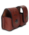 Speedloader Leather Pouch Case Double 5-6 Rounds, Pusat Holster