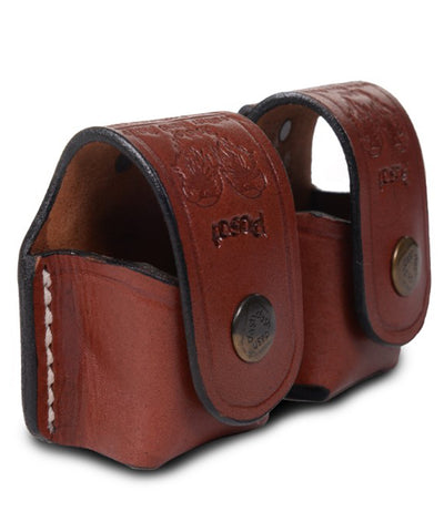 Speedloader Leather Pouch Case Double 5-6 Rounds - Pusat Holster