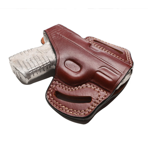 Springfield XD-S 9MM, 40 SW, 45 ACP Leather OWB 3.3 inch Holster, Pusat Holster