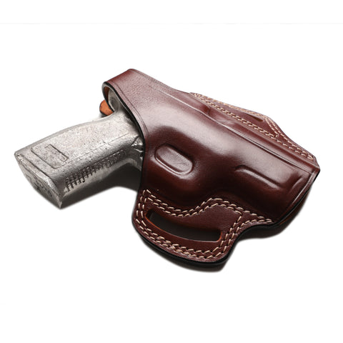 Springfield XD 40 SW, 9MM, 45 ACP Compact Leather OWB 4 inch Holster, Pusat Holster
