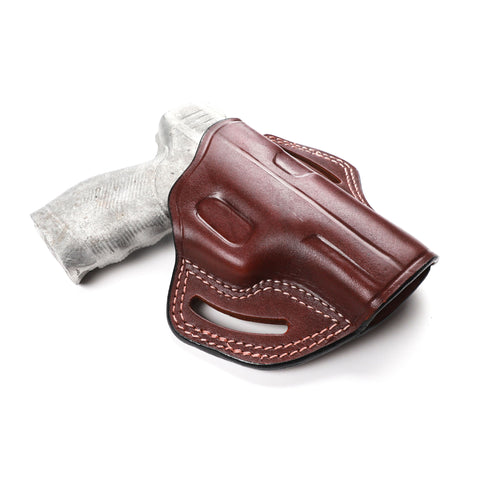 Taurus PT 24-7 Pro 9MM, 40 SW, 45 ACP Gen 1 Leather Pancake Sport Holster, Pusat Holster