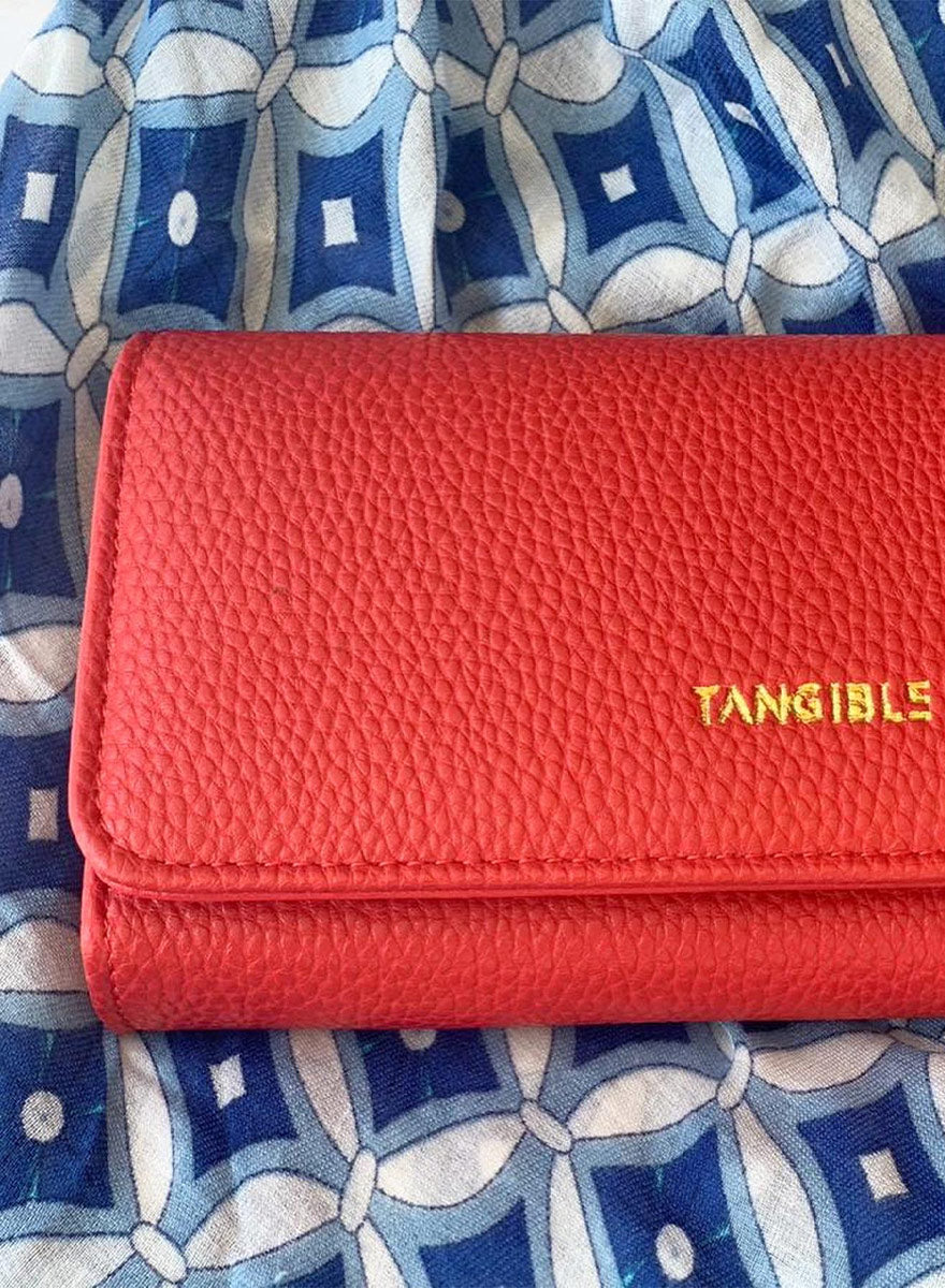 Fold-Over Clutch Purse - Cherry Red