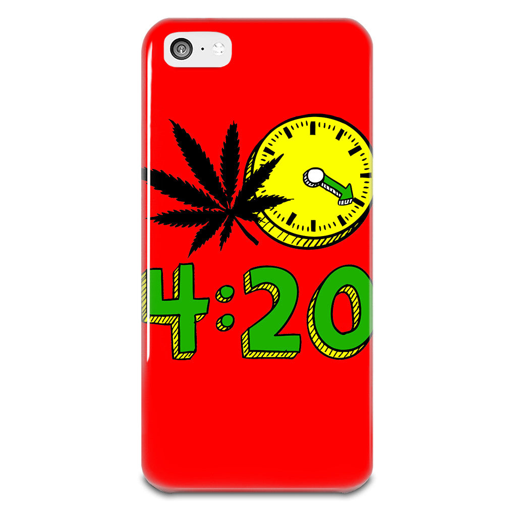 420 Cannabis Weed Leaf Design iPhone 5-5s Plastic Case