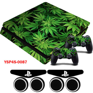 Marijuana Leaves Skin Decals for PS4