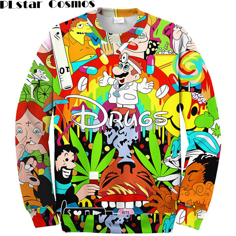Crazy Cartoon Sweatshirt