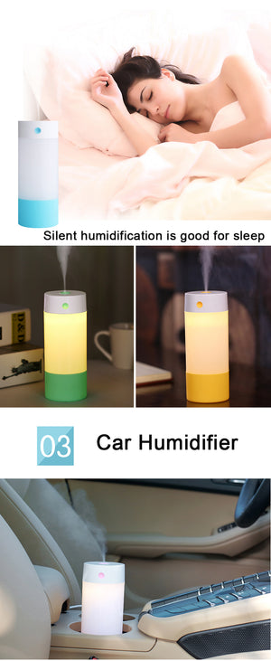 Car Air Freshener/ Purifier 250ml w/ Warm White LED Light