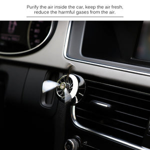 Mini Air Purifier Air Freshener Clip-on Car Aromatherapy Fragrance Oil Diffuser Air Purifier