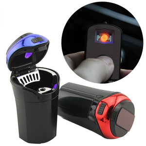 Luminous Multifunction Ashtray with Lighter