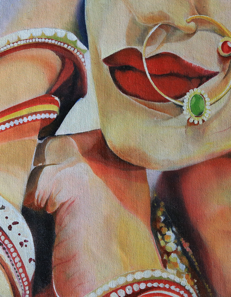 INDIAN BRIDE WALL ART