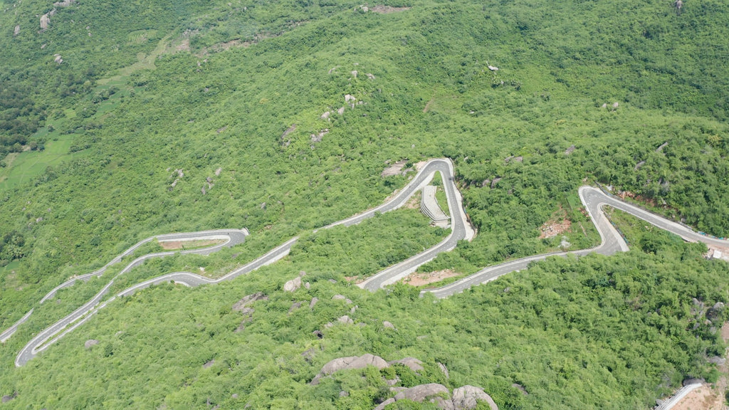 Balakumari Temple Viewpoint - Aerial Video - 4K Stock Footage - Item #126
