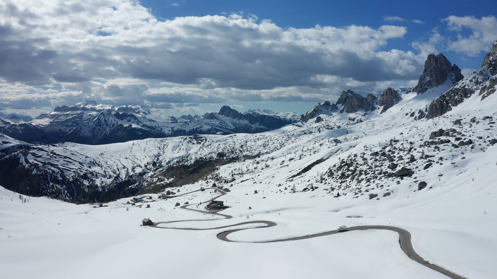 Cortina d'Ampezzo Dolomites Aerial Video - 4K Stock Footage - Item #225