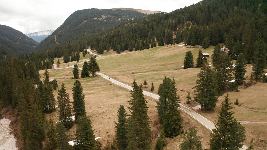 Val Badia Dolomites Aerial Video - 4K Stock Footage - Item #224