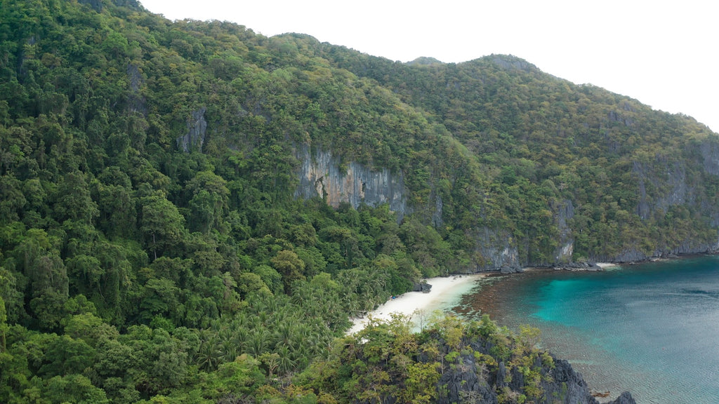 7 Commando Beach EL NIDO PHILIPPINES Aerial Video - 4K Stock Footage - Item #232
