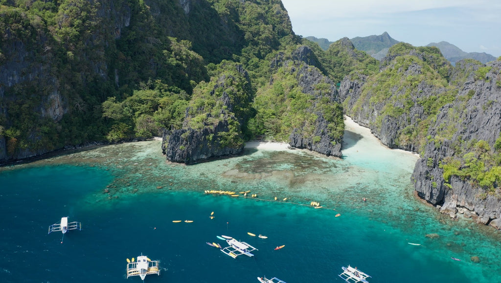 Big Lagoon EL NIDO PHILIPPINES Aerial Video - 4K Stock Footage - Item #234