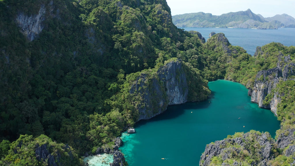 Big Lagoon EL NIDO PHILIPPINES Aerial Video - 4K Stock Footage - Item #239