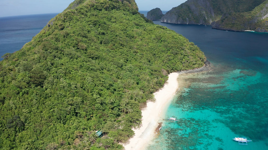 Helicopter Island EL NIDO PHILIPPINES Aerial Video - 4K Stock Footage - Item #244