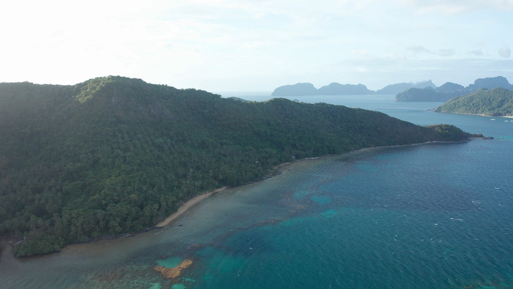 Secret Beach EL NIDO PHILIPPINES Aerial Video - 4K Stock Footage - Item #257