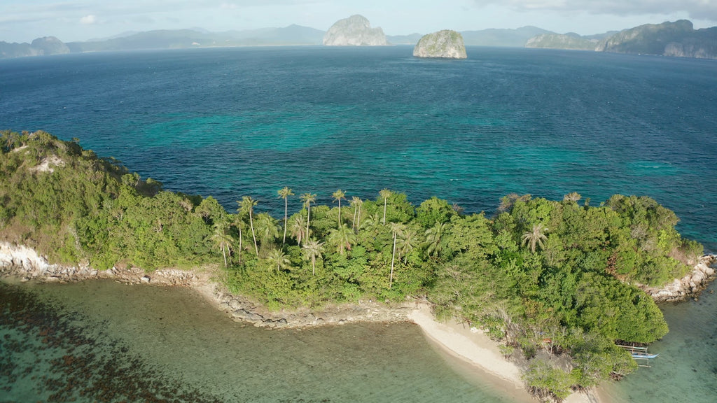 Snake Island EL NIDO PHILIPPINES Aerial Video - 4K Stock Footage - Item #259