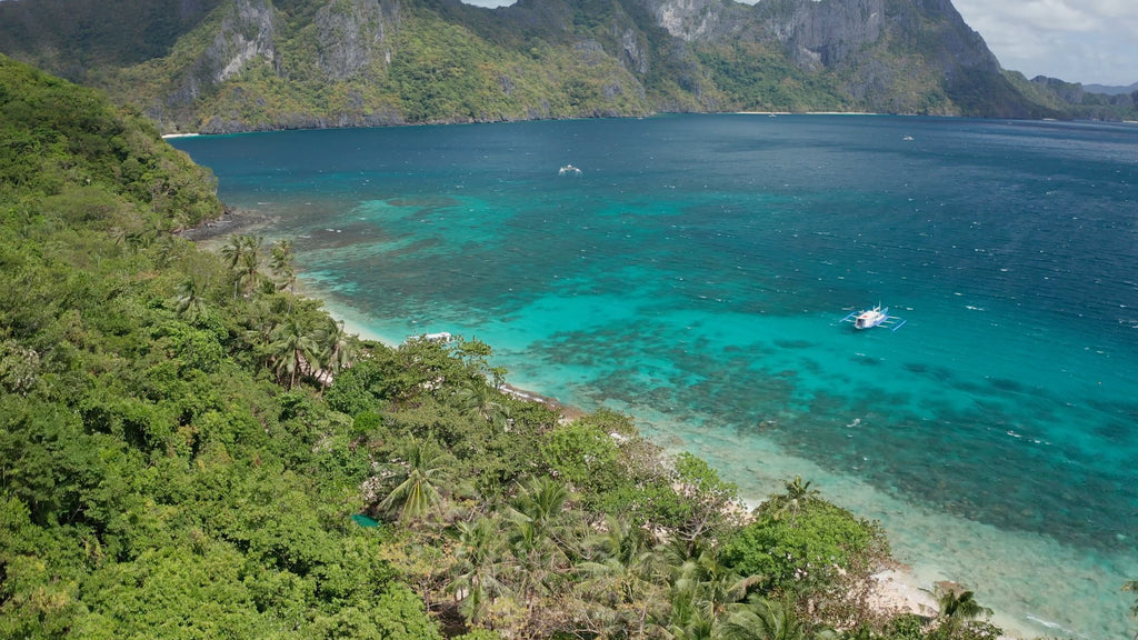 Star Beach EL NIDO PHILIPPINES Aerial Video - 4K Stock Footage - Item #262