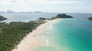 Nacpan Beach EL NIDO PHILIPPINES Aerial Video - 4K Stock Footage - Item #267