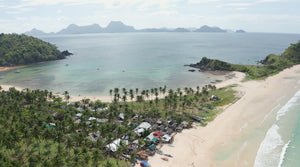 Nacpan Beach EL NIDO PHILIPPINES Aerial Video - 4K Stock Footage - Item #268