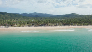 Nacpan Beach EL NIDO PHILIPPINES Aerial Video - 4K Stock Footage - Item #273