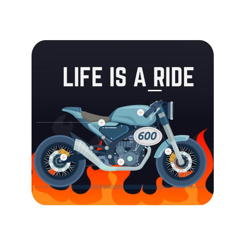 Life is a Ride Mouse Pad