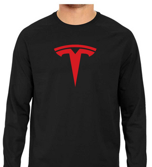 TESLA Only Logo Full Sleeve Tee - Black - XXL