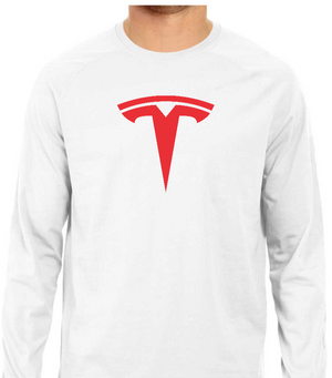 TESLA Only Logo Full Sleeve Tee - White - M