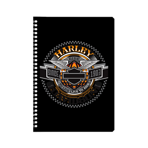 Harley Davidson Ride to Live Notebook
