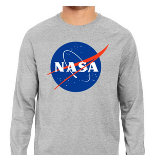 NASA Logo Full Sleeve Tee - Grey - S