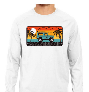 ROADTRIPPIN Full Sleeve Tee - White - L
