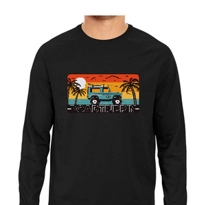 ROADTRIPPIN Full Sleeve Tee - Black