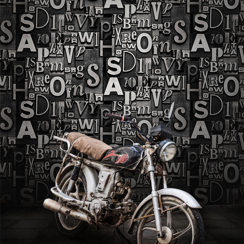 3D Embossed English Words Textured Letters Wallpaper Vintage Fashion Bar  Cafe Restaurant Desktop Wall Paper Wall Covering Roll