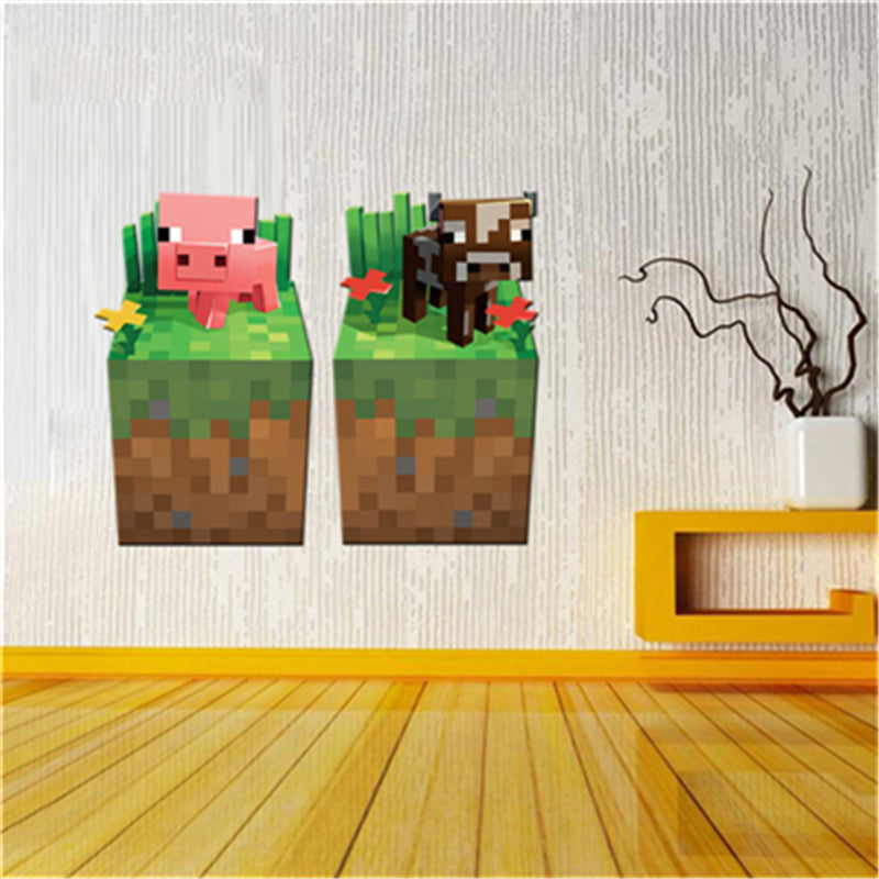 3d Minecraft Wall Stickers For Kids Room Wallpaper Home Decoration Accessories Wall Art Game Minecraft Enderman Wall Sticker