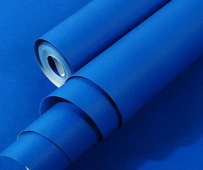 Bacaz All Blue Wallpaper Solid Color Rolls For Bedding Room Vinyl Wall Paper Living Wallcoverings