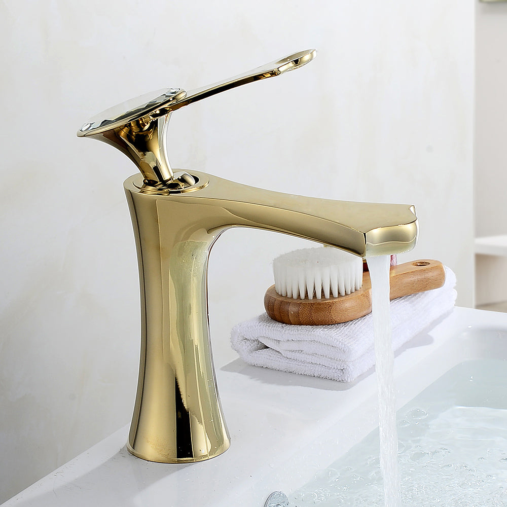 Basin Faucets Modern Gold Faucet Single Hole Bathroom Faucets Black