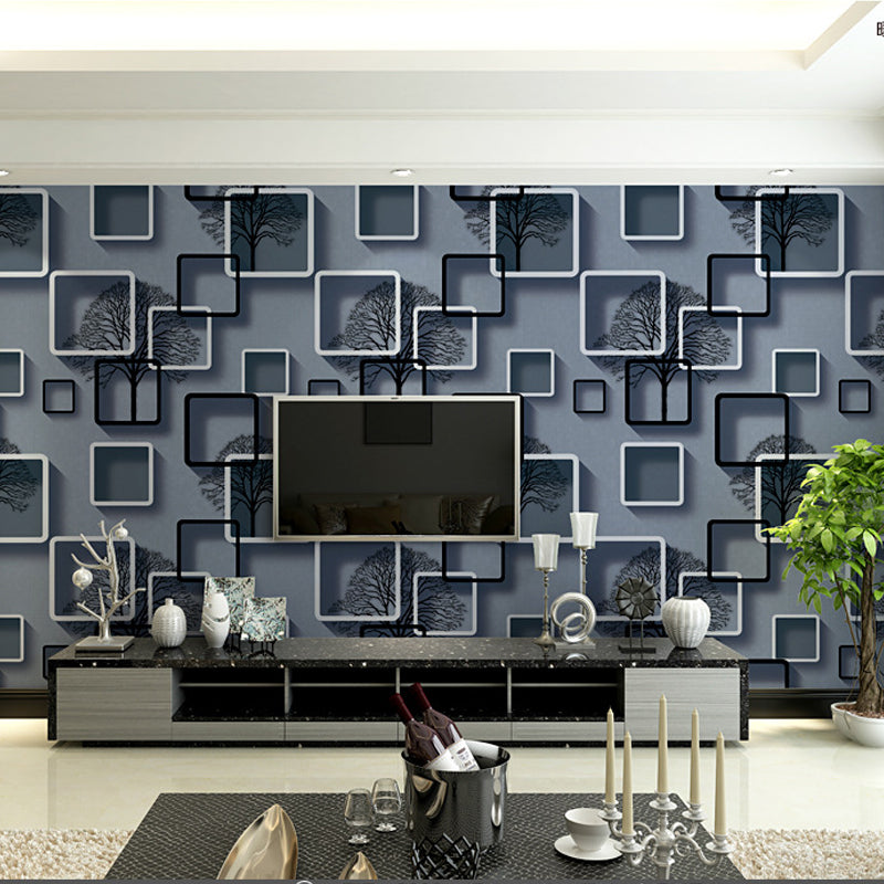 Black White 3d Abstract Wallpaper Wallcoverings Wall Papers Home Decor Bedroom Living Room 10m Roll