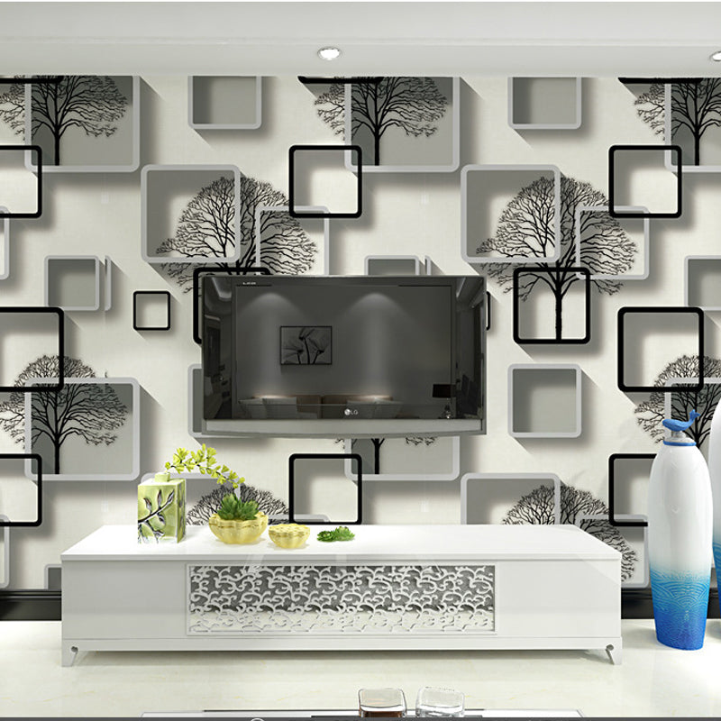 Black White 3d Abstract Wallpaper Wallcoverings Wall Papers Home