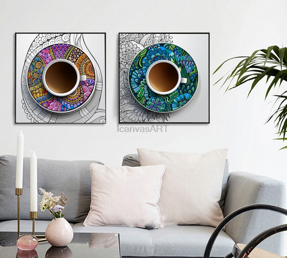 Bohemian Style Flower Mandala Canvas Paintings Artwork Posters Wall Picture  For living Room Modern Abstract Paintings Home Decor