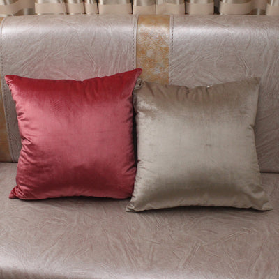 Comfortable Solid Colors Luxury Velvet Cushion Cover Custom Size Mesmerizing Decorative Pillow Slipcovers