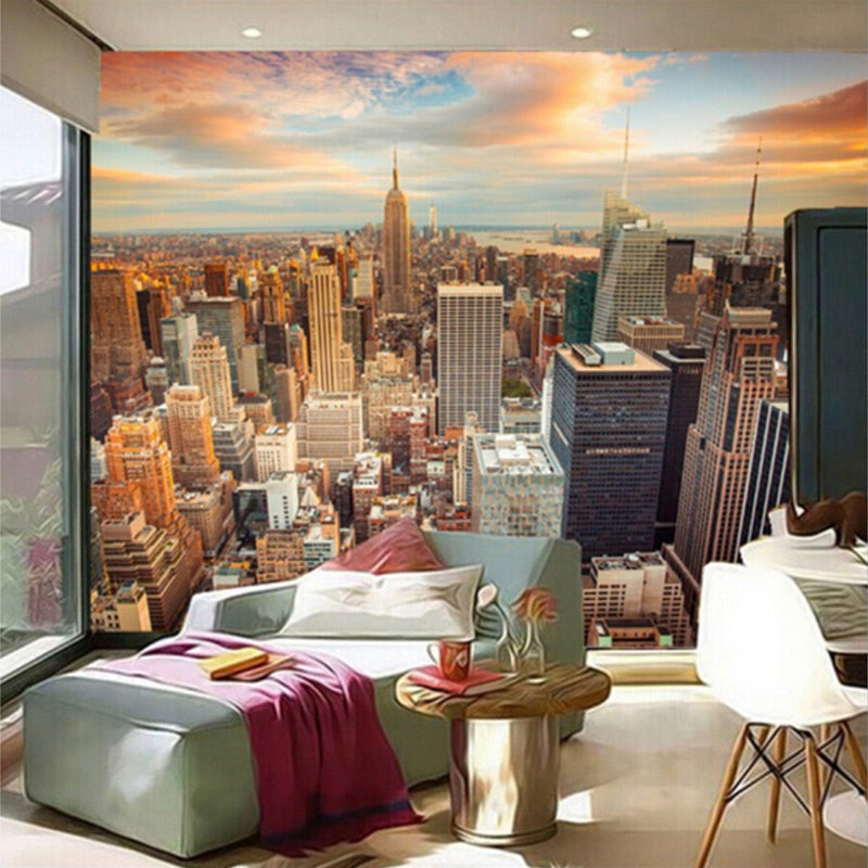 Custom 3d Wallpaper Murals Usa Skyscrapers New York City Building Wall Painting Bedroom Living Room Sofa Wall Papers Home Decor