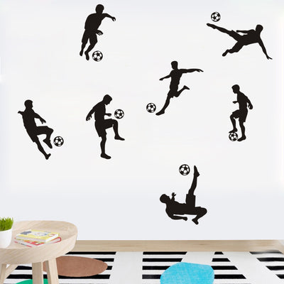D126 Soccer Ball Football Wall Sticker Decal Kids Room Decor Sport Boy  Bedroom soccer player art Vinyl wall decal home decor